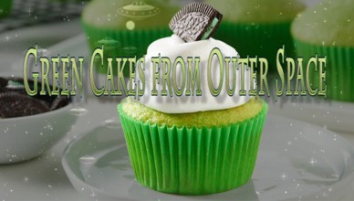 Green cakes from space
